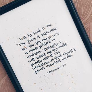 Customised framed calligraphy — Bible verses