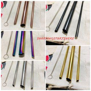 POINTED/SHARP END METAL STRAW