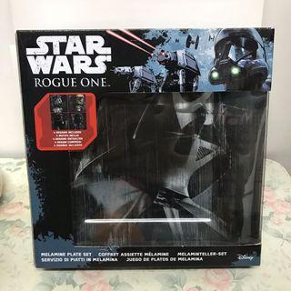 Disney Star Wars melamine plate set 星戰 方碟