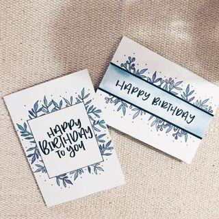 Customised calligraphy cards — Birthday