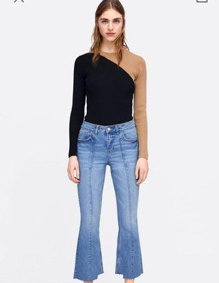 Zara Cropped Flared Jeans