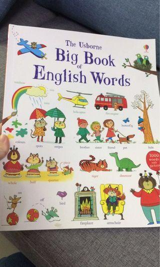 Usborne English word - paperback