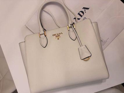 Prada Bag handbag Saffiano 2WAY Plain Elegant Style Tote 手袋 袋 包