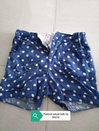 Prelove Short Pants size 1y-3