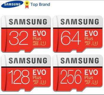 🚚 SAMSUNG 100% Original TF Micro SD Card memory Card MicroSD EVO Plus Class 10 U3 32GB 64GB 128GB 256GB Smartphone Tablet Camera