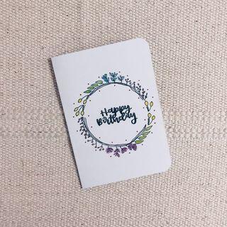 Customised calligraphy card — Birthday