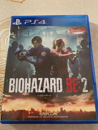 PS4 Game~Biohazard RE:2生化危機2重製版