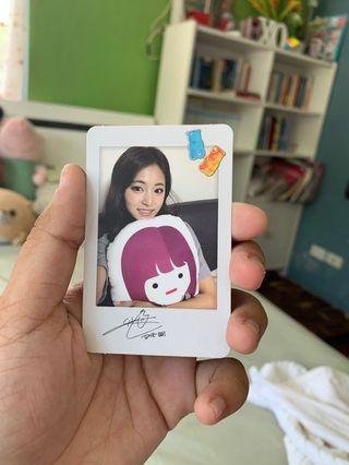 Twicetagram Photocard ( Tzuyu with mini Tzuyu version)