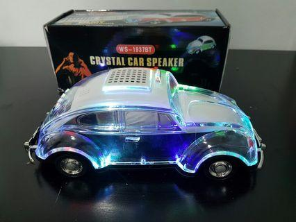 Wireless Speaker Crystal VW Beetle Lights