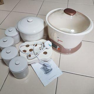 Electric steaming & stewing pot