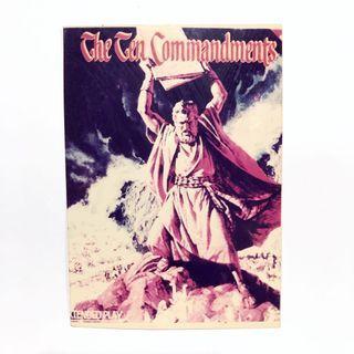 🚚 The Ten Commandments Movie Poster 3R size photo printout