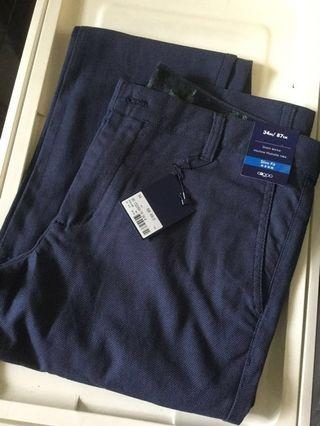 BNWT G2000 Men Stretchable Slim Fit Long Pants Size 34
