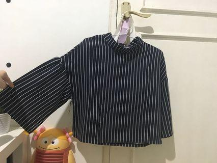 Stripe Navy blouse