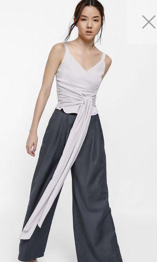 Metisha Ruched Sash Tie Top
