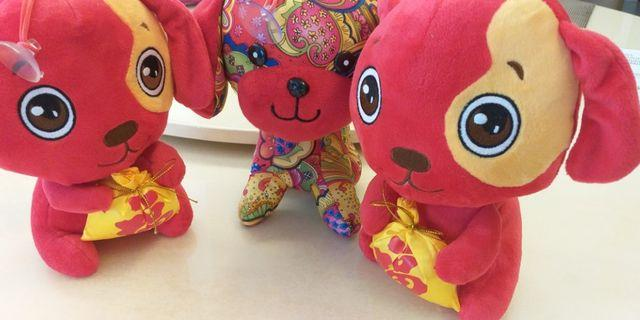 Cute Little red prosperity bear set(3)