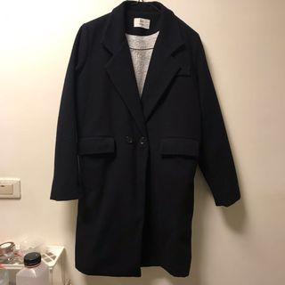 🚚 大出清🔥羔羊內裏藍黑翻領大衣