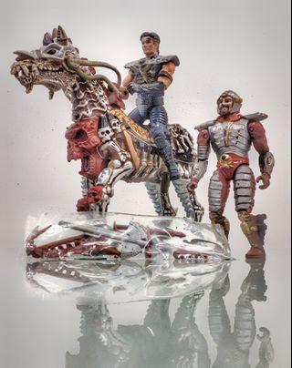 vintage playmate skeleton warrior warhorse jadul