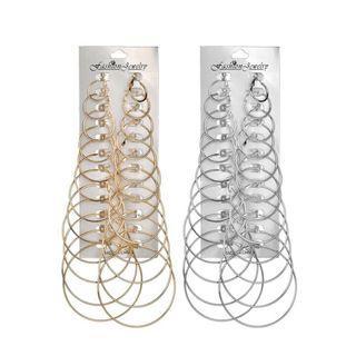 12Pairs/Set Hoop Earrings