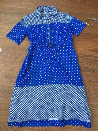 Vinatge cobalt blue dress Japan