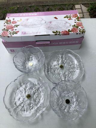 SOGA玻璃玫瑰碗盤