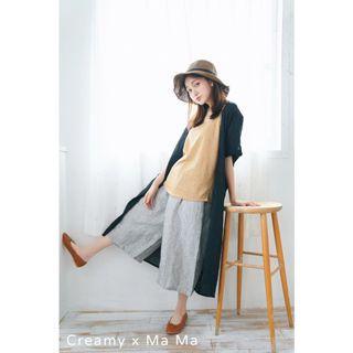 🚚 轉賣 奶油社團 Creamy baby x mama 超輕盈薄料水洗棉長版外罩衫 吉利