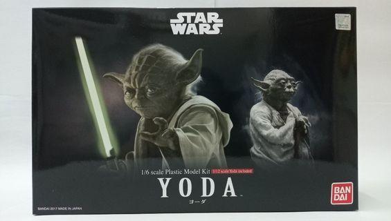 Star Wars 星球大戰 Yoda 尤達 1/6 Scale Plastic Model Kit Bandai#MTRssp