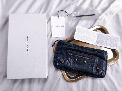 FINAL DROP! ★BALENCIAGA GIANT CANARD COMPAGNON MONEY WALLET NAVY BLUE - AVAILABLE FOR CASH PAYMENT OR LAYAWAY BASIS