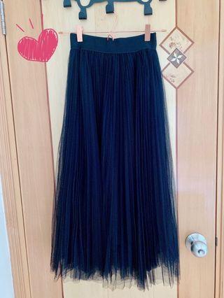 日本黑色紗裙