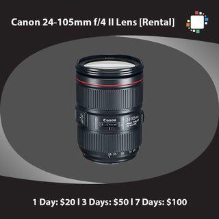 Canon 24-105mm f/4 II Lens [Rental]