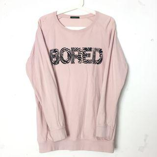 Sweatshirt Sweater Korean Pink Shirt