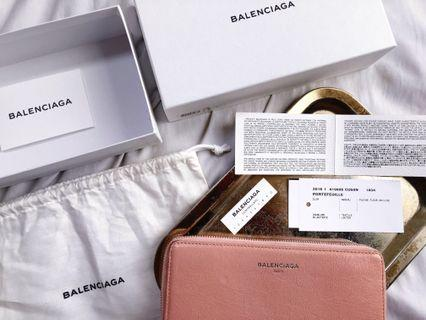 FINAL DROP! ★BALENCIAGA CONTINENTAL ZIP AROUND MONEY WALLET ROSE BALLERINE - AVAILABLE FOR CASH PAYMENT OR LAYAWAY BASIS