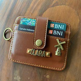 Card holder Borneos Vintage / dompet kartu simpel pasang nama