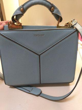 Topshop original sky blue leather sling bags