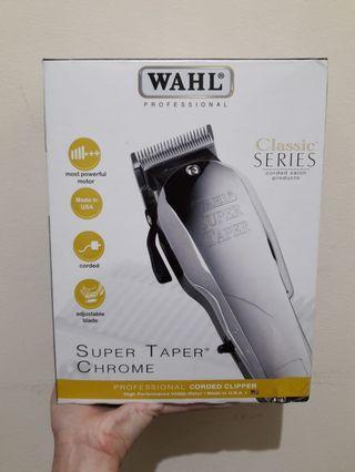 Wahl hair clipper super tapper chrome classic