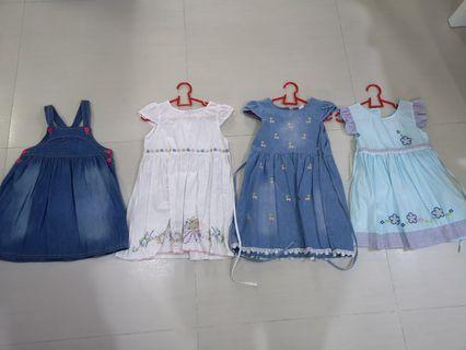 Girls Dresses all 4 for size 110 to 120