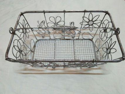 Old Chrome Plated Basket