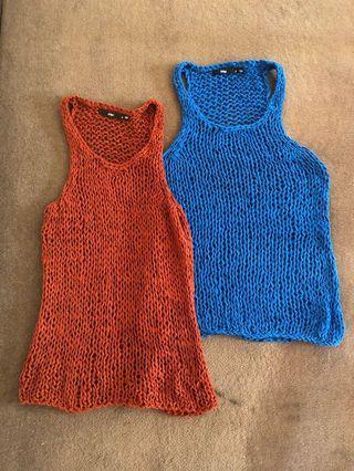 Sportgirl knitted singlets