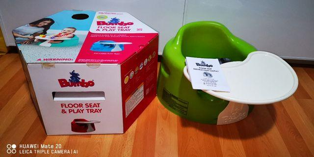 Bumbo baby seater with tray