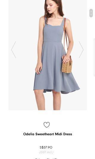 Fayth odelia sweetheart midi dress(size S)