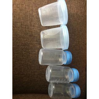 Milk storage bottles