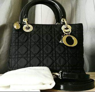 authentic lady dior nylon with strap