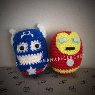 Crochet Tsum Tsum Captain America & Iron Man