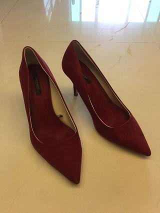 Zara Basic Collection Red High Heels 深紅色高跟鞋高踭鞋