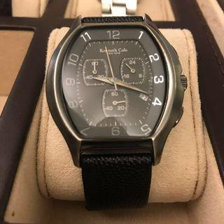 Kenneth Cole Black Leather Strap Watch