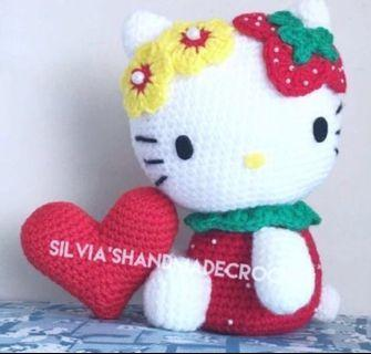 💕 Crochet Hello Kitty Strawberry