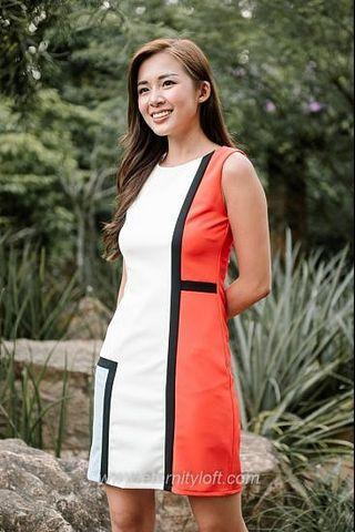 🚚 BN Yves Colour Block Dress in Multi Eternity Loft