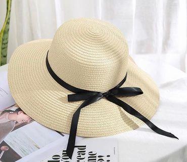 11cm帽簷沙灘草帽(可摺疊)