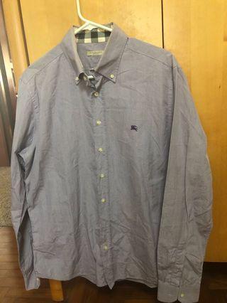 Burberry light purple long sleeve shirt