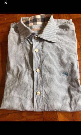 Burberry light blue long sleeve shirt