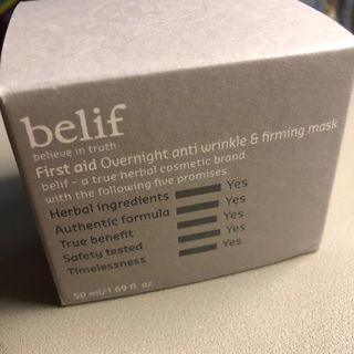 ‼️BELIEF First aid overnight and anti-wrinkle & firming mask